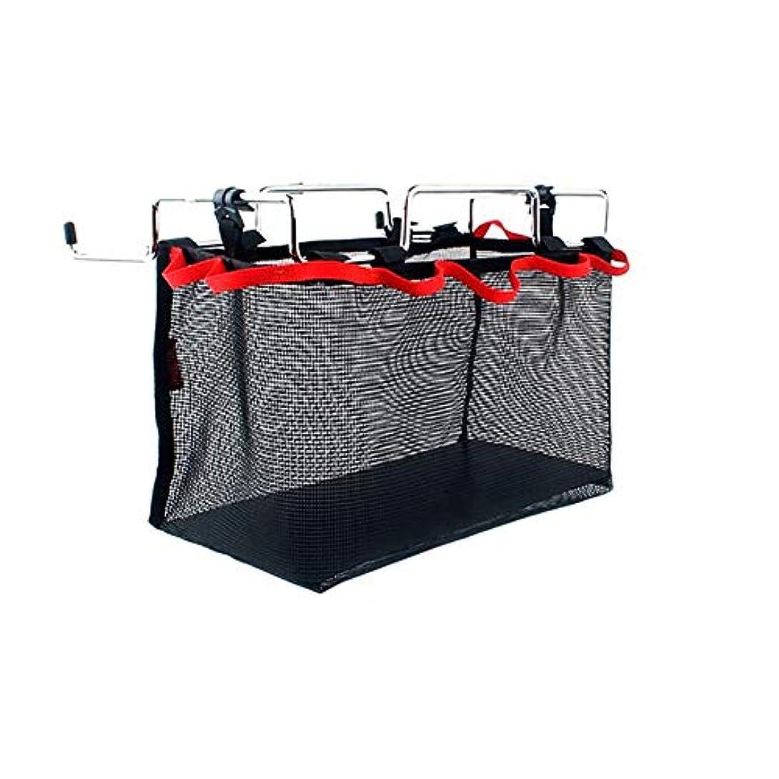 サミット瞑想禁止するLULAA テーブル ラック 収納ラック メッシュ バッグ付き 軽量 持ちやすい キャンプ アウトドア バーベキュー ピクニック