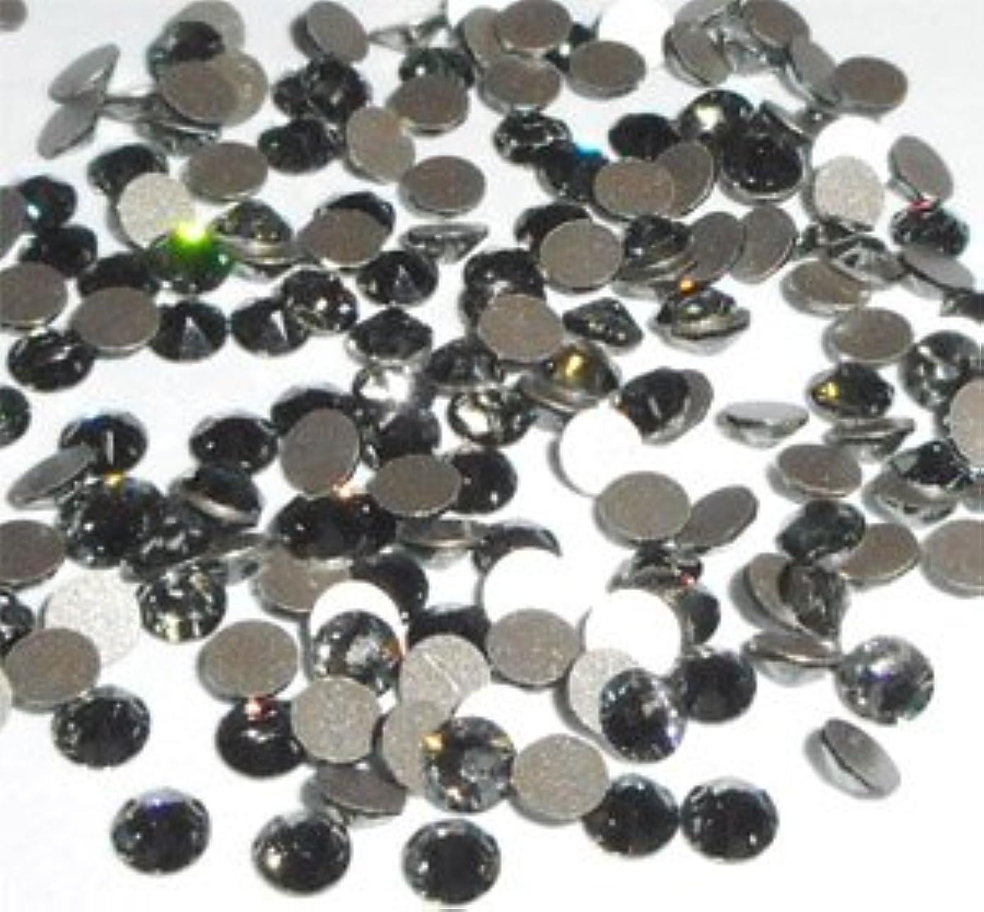 送るバンガロー区スワロフスキー ラインストーン #2058 ブラックダイヤモンド(SS5)100粒