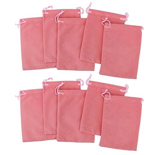 [해외]노 명품 쥬얼리 파우치 벨벳 돈주머니 선물 가방 결혼식 호의 가방 8x10cm 5 색 10 개/No-branded item Jewelry pouch Velvet purse string gift bag Wedding affection bag 8 x 10 cm 5 colors 10 pieces