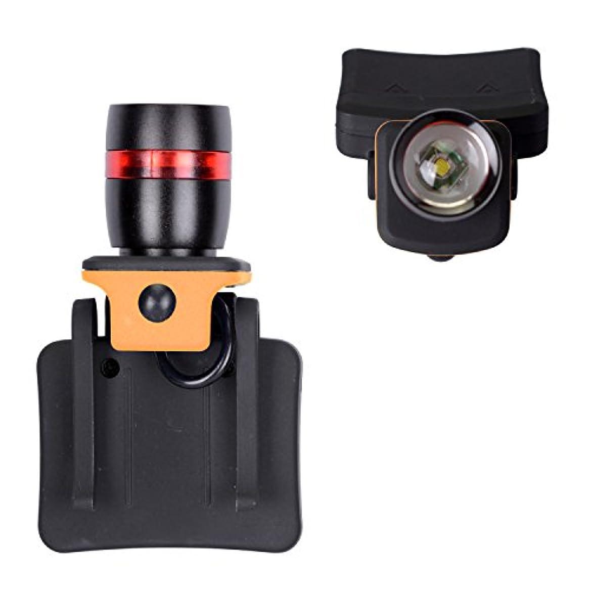 天のインチアナリスト超明るい ヘッドライト 250ルーメン XPE LED釣り灯 ズーム機能付 単四電池使用 帽子に直接装着 キャップライト WOLFTEETH 406801