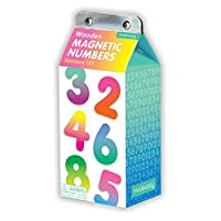 Mudpuppy Rainbow 123 Wooden Magnetic Numbers [Floral] [並行輸入品]