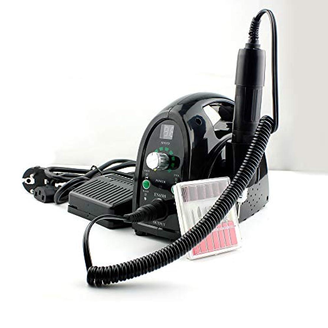 チーフ警察署支払い多機能電気ネイルドリルマシンネイルファイルドリルペンキット、25,000 RPMプロフェッショナルネイルドリルマシンネイルアートドリルKIT,黒