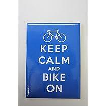 【STRAND BOOK STORE】MAG: Keep Calm and Bike On(ストランドブックストア マグネット キープカルム:カラーブルー)