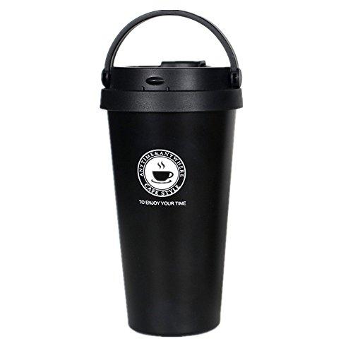 真空断熱 ストロータンブラー ふた付き おしゃれ ステンレス 保温 コーヒー 500mlブラック