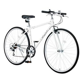 Raychell(レイチェル) 700Cクロスバイク シマノ7段変速 フロントライト標準装備 CR-7007R [メーカー保証1年] ホワイト 35653