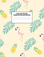 College Ruled Composition Notebook: Cute Blank Lined Journal to Write In with White Paper Rule Pages for School Subject and Writing Pad : Design Code A4 2632