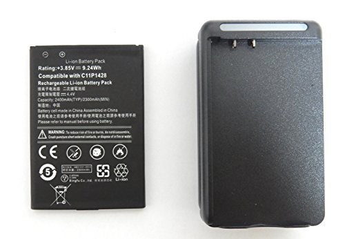 ASUS ZenFone2 Laser ZE500KL 交換用 互換バッテリー 電池パック  +充電器セット 充電器はUSB出力付き C11P142