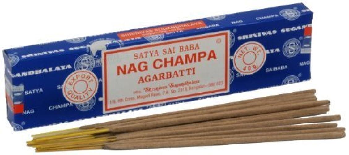 批判的に手書き打ち上げるSatya Nag Champa Incense Sticks 40 grams by Satya Nag Champa [並行輸入品]
