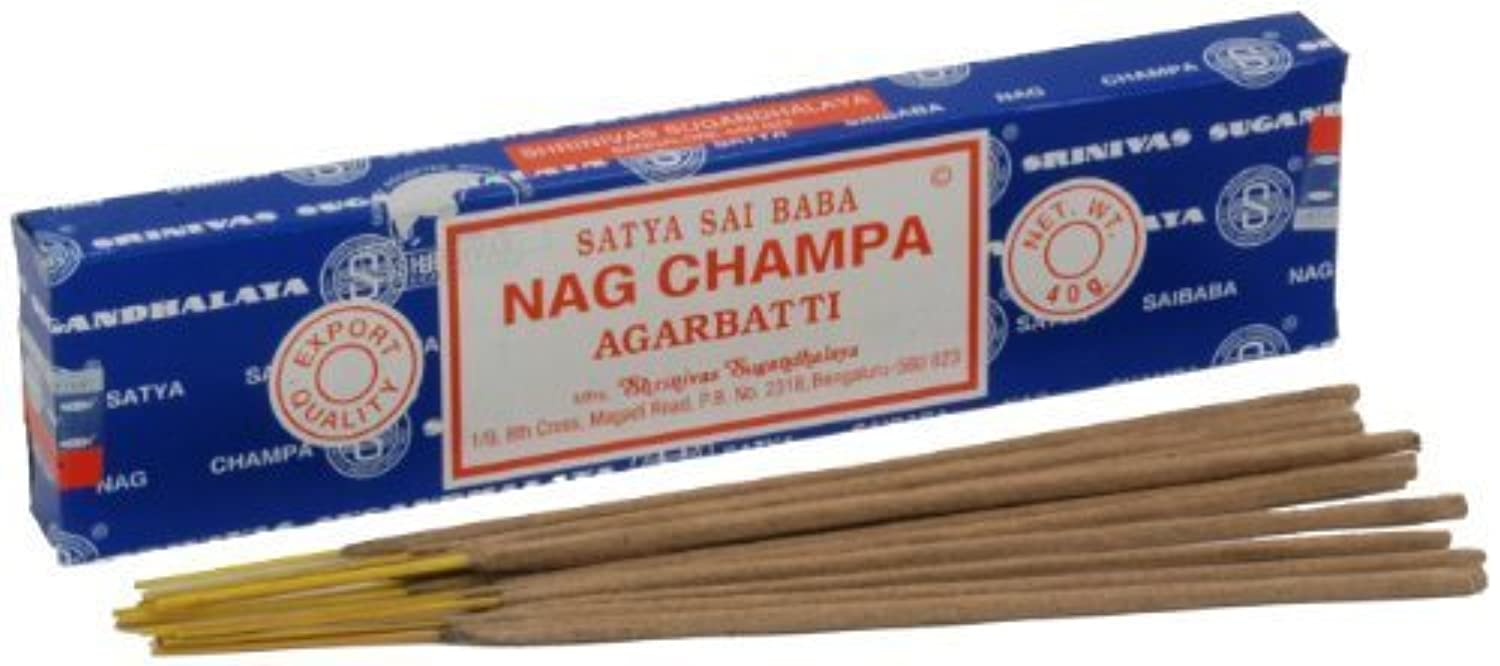 持続的四面体夜の動物園Satya Nag Champa Incense Sticks 40 grams by Satya Nag Champa [並行輸入品]