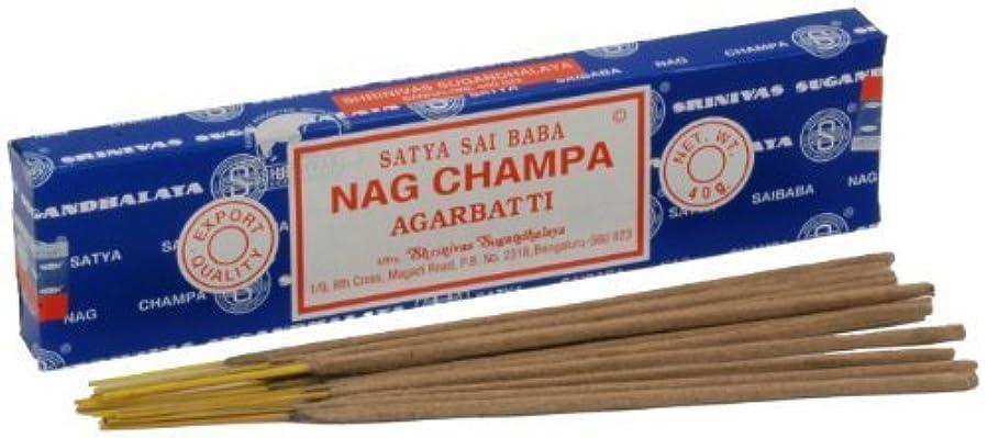 テレビ局姉妹定期的なSatya Nag Champa Incense Sticks 40 grams by Satya Nag Champa [並行輸入品]