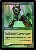 英語版フォイル 第7版 Seventh Edition 7ED ツリーフォークの若木 Treefolk Seedlings マジック・ザ・ギャザリング mtg