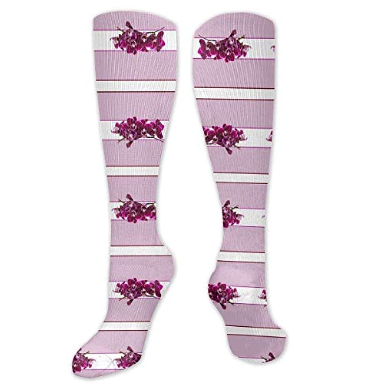 無効にする結論悲しみ靴下,ストッキング,野生のジョーカー,実際,秋の本質,冬必須,サマーウェア&RBXAA Purple Pink Orchids Tea Towel Socks Women's Winter Cotton Long Tube...
