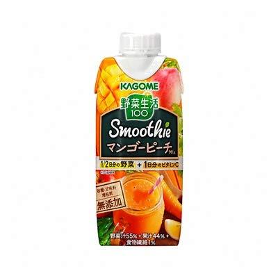 カゴメ 野菜生活100 スムージー マンゴーピーチ Mix 330ml ×24本(2ケース)