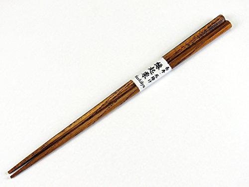 栗八角箸 先角 中21.5cm 持ちやすくて縁起の良いお箸です