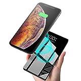 モバイルバッテリー 大容量 ワイヤレス充電器 Qi 20000mAh Xperia Galaxy iphone 充電器 持ち運び バッテリー 携帯 無線充電器 モバイル ガラス画面 LCD残量表示 急速充電 三台同時充電 置くだけ充電 無線と有線両用 iPad Pro / iPhone X / XS MAX / XS / XR / iPhone8 8Plus / Galaxy Note9 Note8 / S9 S9+ / S8 S8 Plus / S7 edge / S6 edge / Sony Xperia XZ3 / XZ2 Premium / Huawei / SHARP 各種他QI対応 出張 地震防災 黒