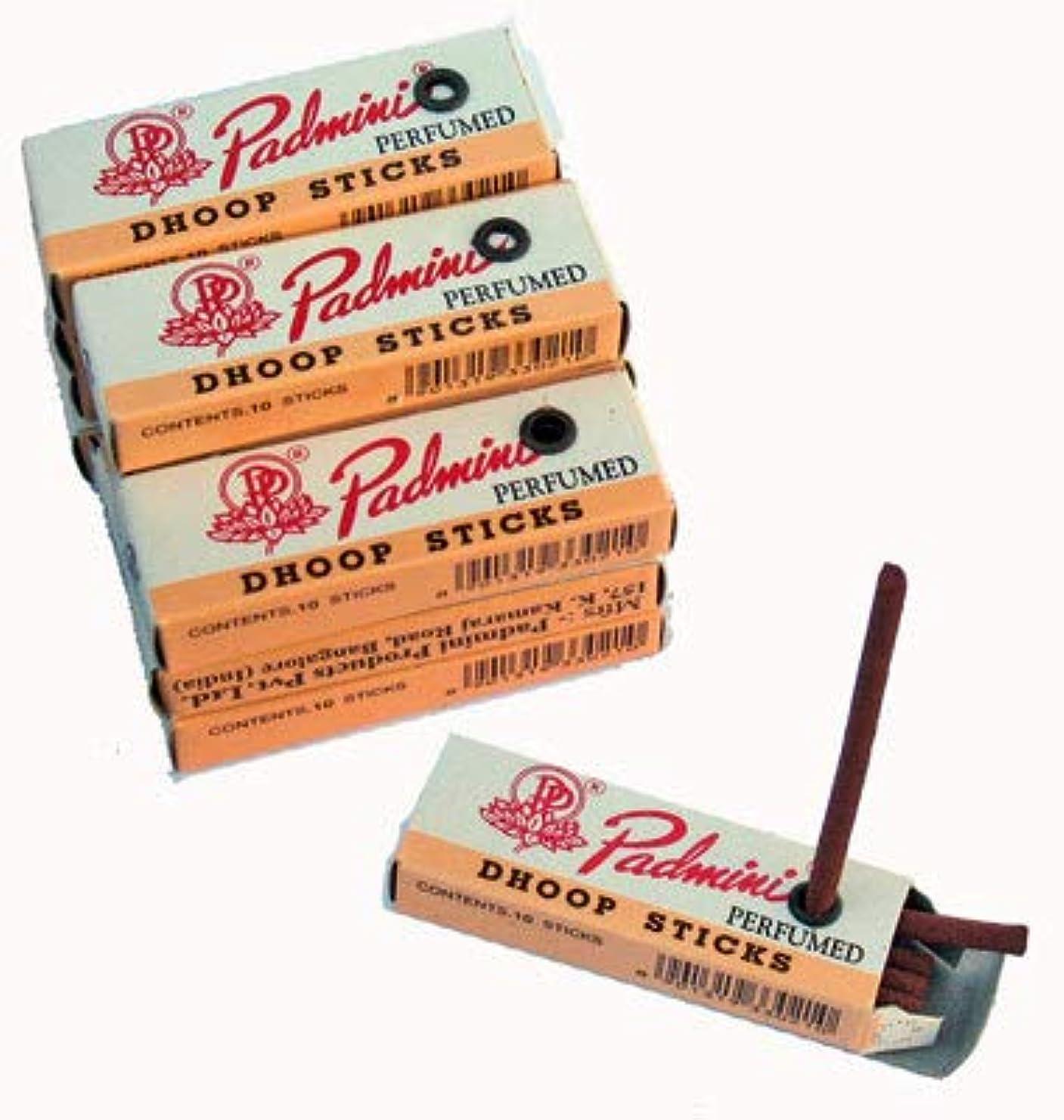 波紋バインド聴覚Padmini Dhoop Sticks – 12ボックスの10 Sticks各 – 5