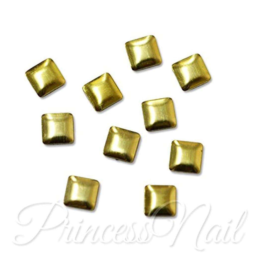 飼いならす毎週穏やかなメタルスタッズ 3mm スクエア ライトゴールド 約50粒