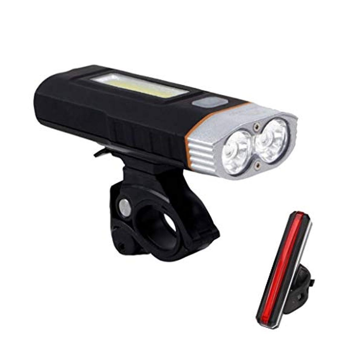 長さかもめ章自転車ライトセット USB充電式, マウンテンバイ クヘッドライト スーパーブライト 300ルーメン, 自転車ヘッドライト無料テールライト