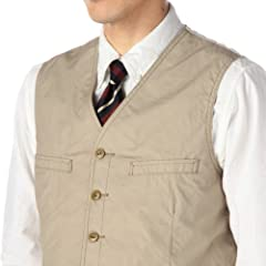 Cotton Vest RF-62001: Beige
