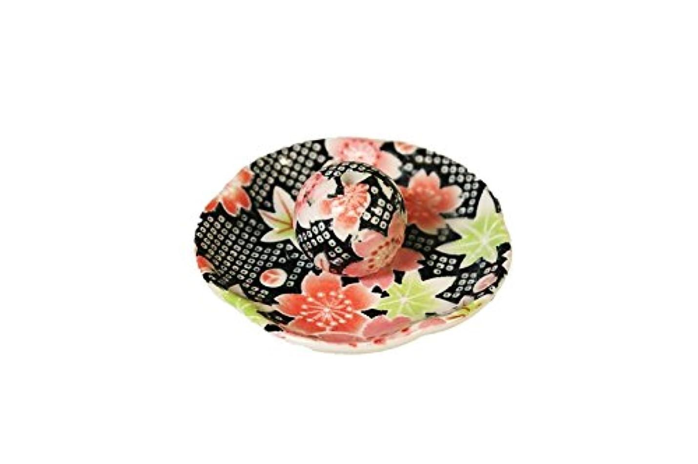進捗論理モスクかのこ友禅 花形香皿 お香立て お香たて 日本製 ACSWEBSHOPオリジナル