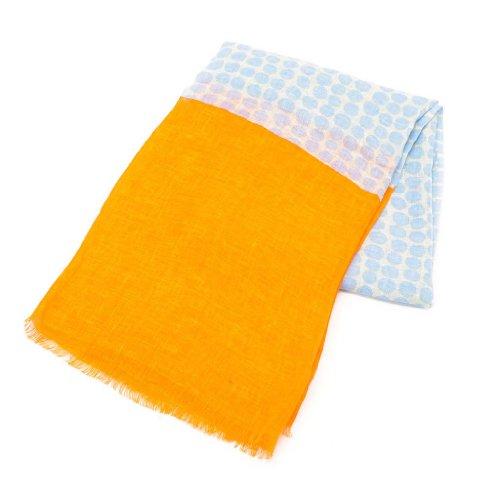 (マリメッコ) Marimekko 37674 RONDO スカーフ/ストール 351/grey/orange [並行輸入品]