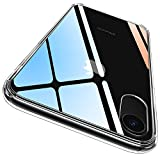 CASEKOO iPhone XR ケース クリア 薄型 指紋防止対策 耐衝撃 365日品質保証 透明カバー 耐衝撃 四隅滑り止め ワイヤレス充電対応 アイフォン XR ケース 6.1インチ PC背面+TPUバンパー ハイブリッド
