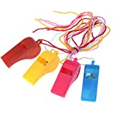 Toyvian Plastic Whistle Necklaces on Braided Cords Sports Referee Training Whistle Children Kids Party Favor