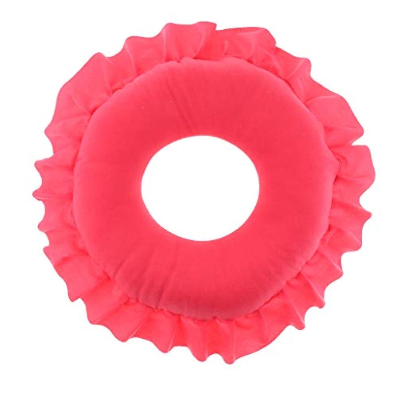 平和的うねる補足フェイス枕 顔枕 マッサージ枕 マッサージピロー 美容院 柔らかい 快適 洗える 全4色 - 赤