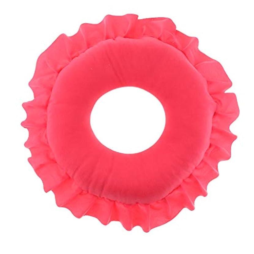 予言する閉じる並外れてフェイス枕 顔枕 マッサージ枕 マッサージピロー 美容院 柔らかい 快適 洗える 全4色 - 赤