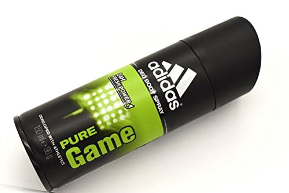 平均インスタンス空気adidas DEO BODY SPRAY 150ml PURE Game アディダス デオドラント ボディースプレー 150ml ピュアゲーム 制汗剤 24時間持続 日本未発売 並行輸入