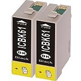 インク 【互換インク】 エプソン EPSON ICBK61 カートリッジ プリンターインク 汎用インク インクカートリッジ 純正 汎用 ICBK61 2個パック(ブラック 黒)
