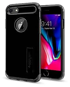 【Spigen】 スマホケース iPhone8 ケース/ iPhone7 ケース 対応 米軍MIL規格取得 耐衝撃 スタンド機能 スリム・アーマー 042CS20842 (ジェット・ブラック)