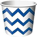 Chevron Stripe Treat Cups - Blue (6) シェブロンストライプは、カップを扱う - ブルー(6)?ハロウィン?クリスマス?
