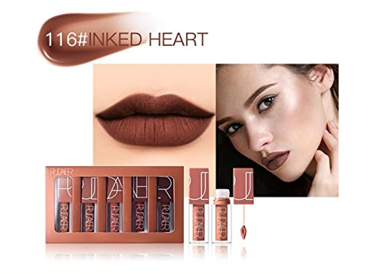 習熟度スカイ文法No #116 Hot Brand Long Lasting Velvet Lips Tint Liquid Lipstick Matte Beauty Cosmetics Sexy Nude Pigment Matte...
