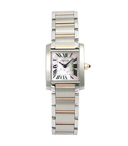 [カルティエ]CARTIER 腕時計 タンクフランセーズ ピンクシェル K18PG&SS W51027Q4 レディース 【並行輸入品】