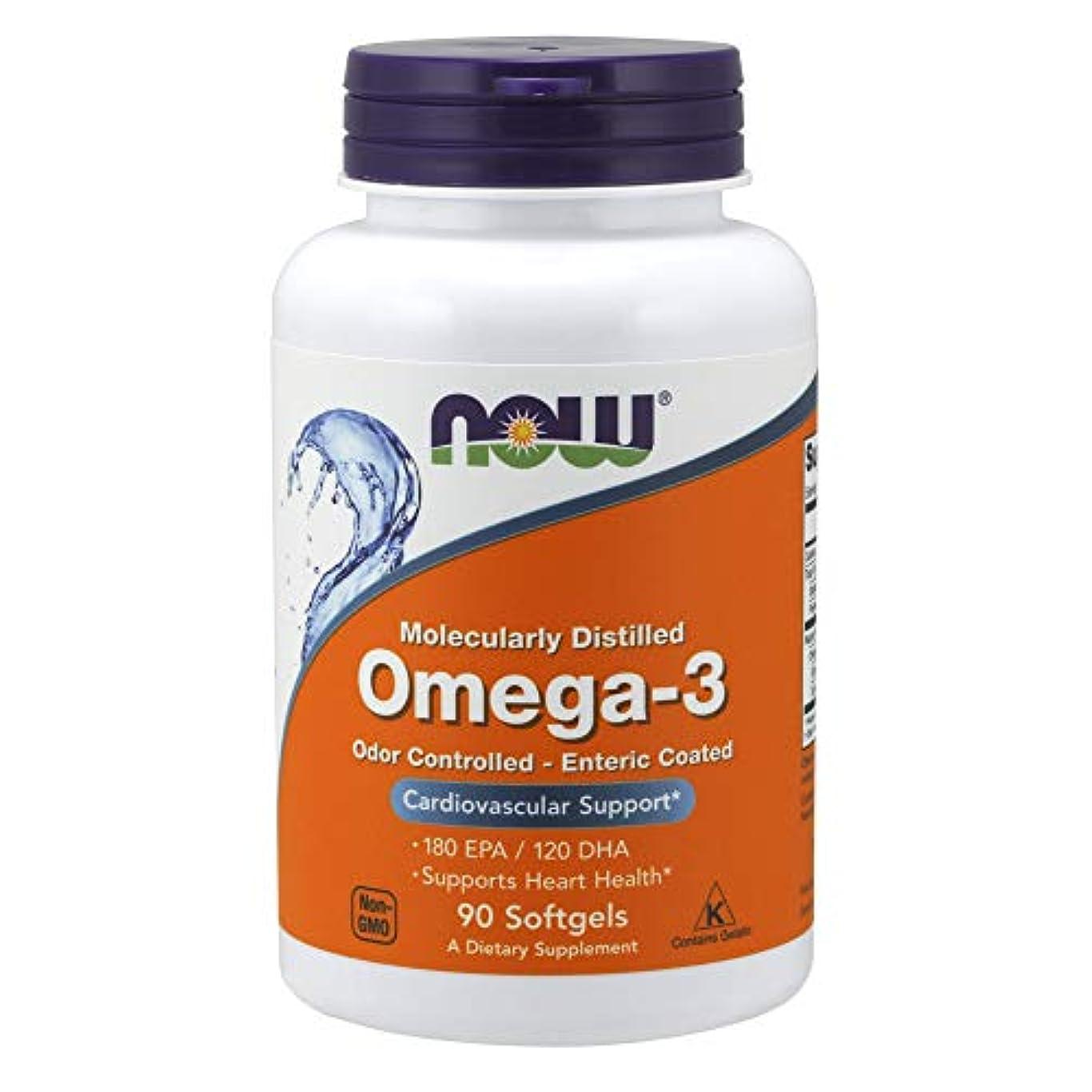 右省略する相対サイズ[海外直送品] ナウフーズ   Molec-Distilled Omega-3 90 Sgels