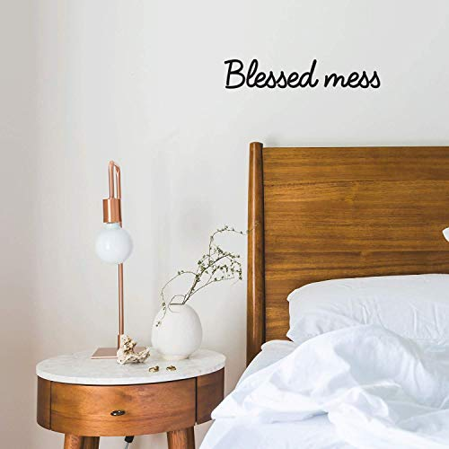 Vinyl Wall Art Decal - Blessed Mess - 3