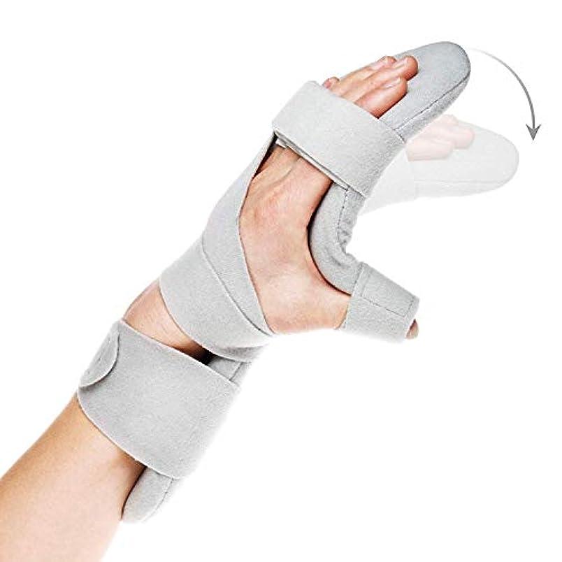 生きる回転するプロフェッショナル疼痛腱炎捻挫骨折関節炎脱臼用安静時ハンドスプリントナイトリストバンドイモビライザーサポート (Size : Left Hand)