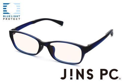 【JINS SCREEN ウエリントン ライトブラウンレンズ】 (BLUE)