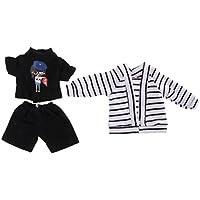 Lovoski  人形 シンプル 3本 コート+ Tシャツ+パンツ セット 服 1/6スケール  BJDドール適用