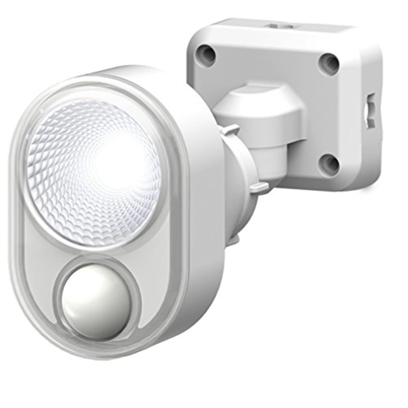 逃げる思いやりスキッパームサシ RITEX フリーアーム式LEDセンサーライト(4W×1灯)防雨タイプ コンセント式 ホワイト LED-AC103