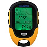 Sunroad デジタル 高度計 気圧計 コンパス 温度計 湿度計 天気予報 [並行輸入品]