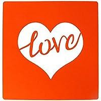 Sunsoar スクラップブック 描画テンプレート スクラップブッキング アルバム 絵図 手帳用 紙飾り用 DIY ケーキ クッキー コーヒー スプレーパターン Love