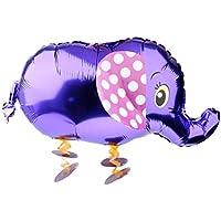 Lovoski 4色選ぶ バルーン 風船 おもちゃ ウォーキングペット フォイル 象 ペット 動物 ヘリウム 子供たち パーティー - 紫