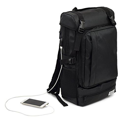 [ヘクサー]リュックサック 大容量 A3 サイズ対応 【 ビジネス × カジュアル 】USBポート付き バックパック