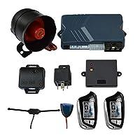 BANVIE 2ウェイカーセキュリティアラームシステム リモートエンジンスタート キーレスエントリー ショックセンサー&電子レンジセンサー検出 2つのLCDスクリーンリモートコントローラー