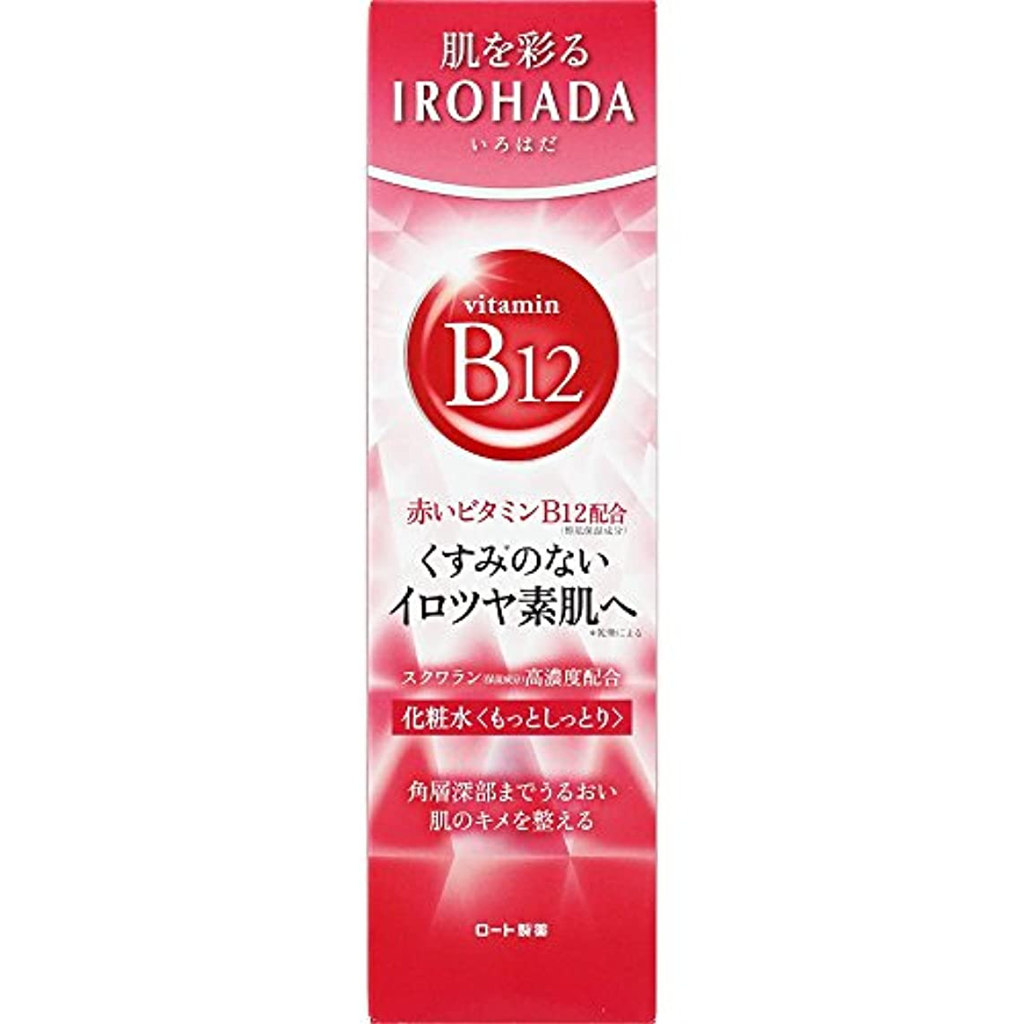 宴会地理外部ロート製薬 いろはだ (IROHADA) 赤いビタミンB12×スクワラン配合 化粧水もっとしっとり 160ml