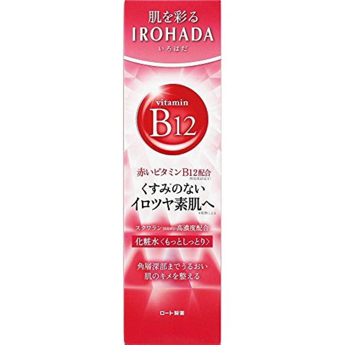 収入バング型ロート製薬 いろはだ (IROHADA) 赤いビタミンB12×スクワラン配合 化粧水もっとしっとり 160ml