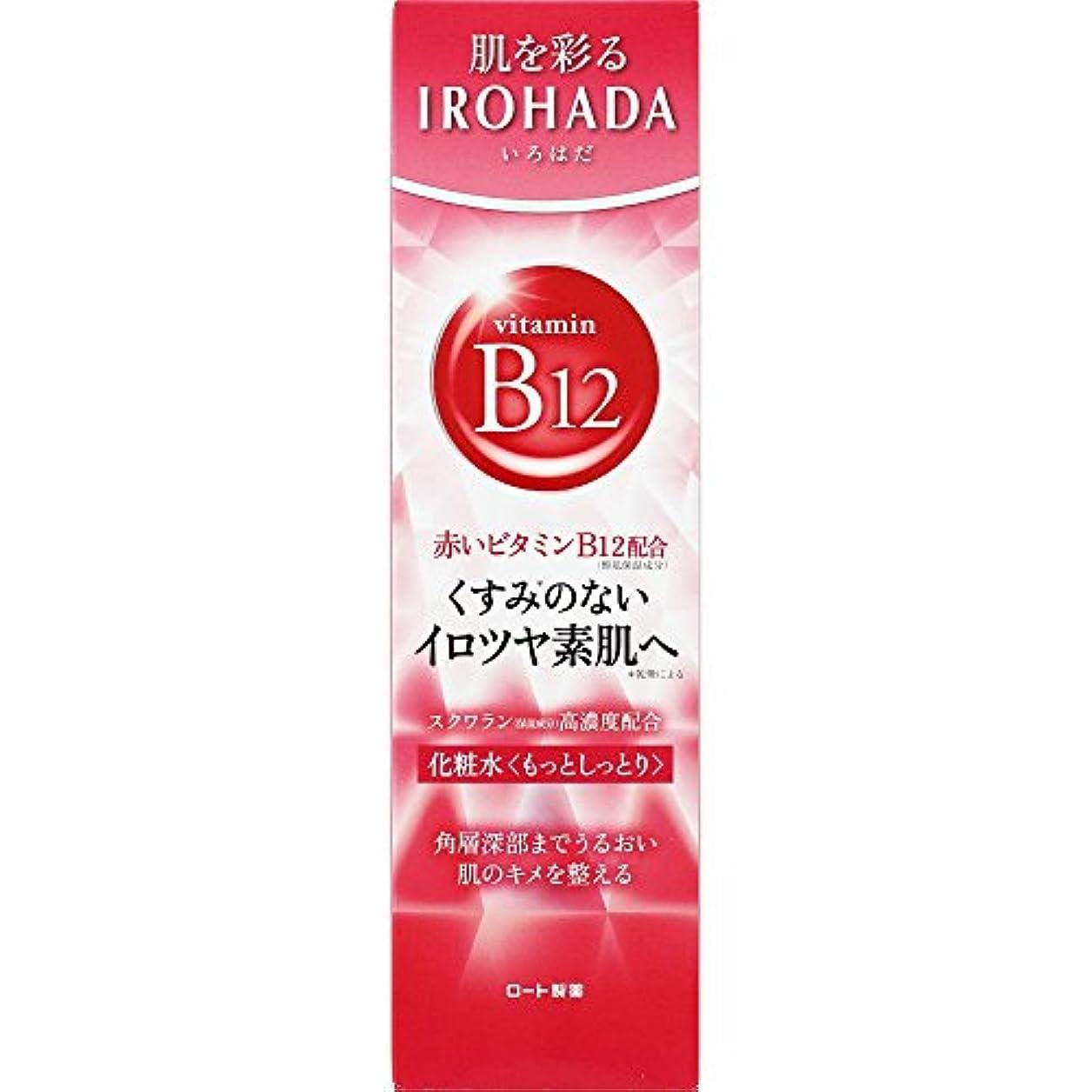 貼り直す脊椎職業ロート製薬 いろはだ (IROHADA) 赤いビタミンB12×スクワラン配合 化粧水もっとしっとり 160ml