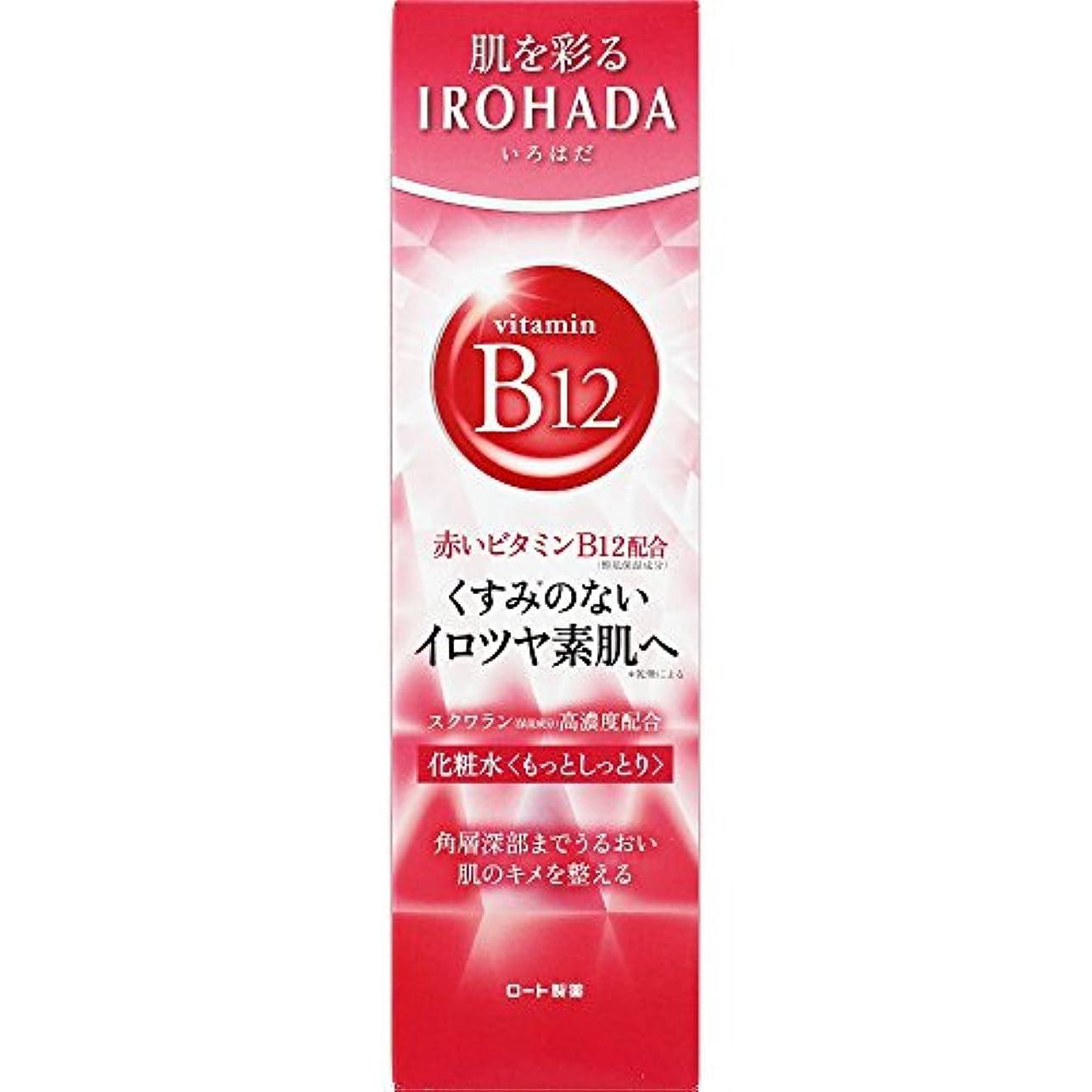 月並外れて水っぽいロート製薬 いろはだ (IROHADA) 赤いビタミンB12×スクワラン配合 化粧水もっとしっとり 160ml